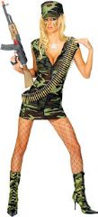 Fever Sexy Army Combat Girl Costume